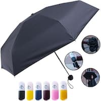 Travella Lightweight Umbrella Weatherproof No Drip Nano Coated UV Protection, Black