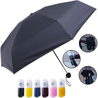 Travella Lightweight Umbrella Weatherproof No Drip Nano Coated UV Protection, Black