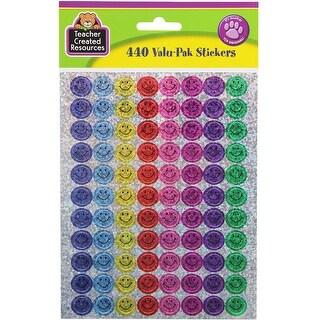 Mini Happy Faces Sparkle Stickers