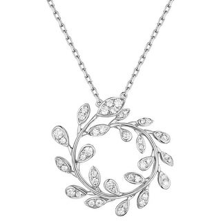 Prism Jewel 0.24Ct G-H/I1 Natural Diamond Olive leaf Necklace (3 options available)