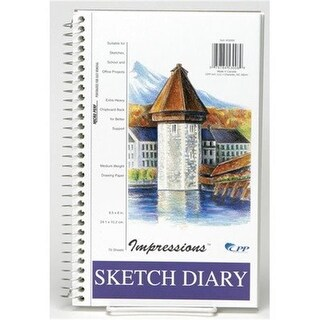 Merchandise 65800284 Carolna Sketch Diary, 9.5 x 6 in. - 70 Count
