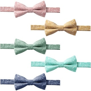 Jacob Alexander Men's Pre-tied Banded Adjustable Floral Bow Tie - One size (5 options available)