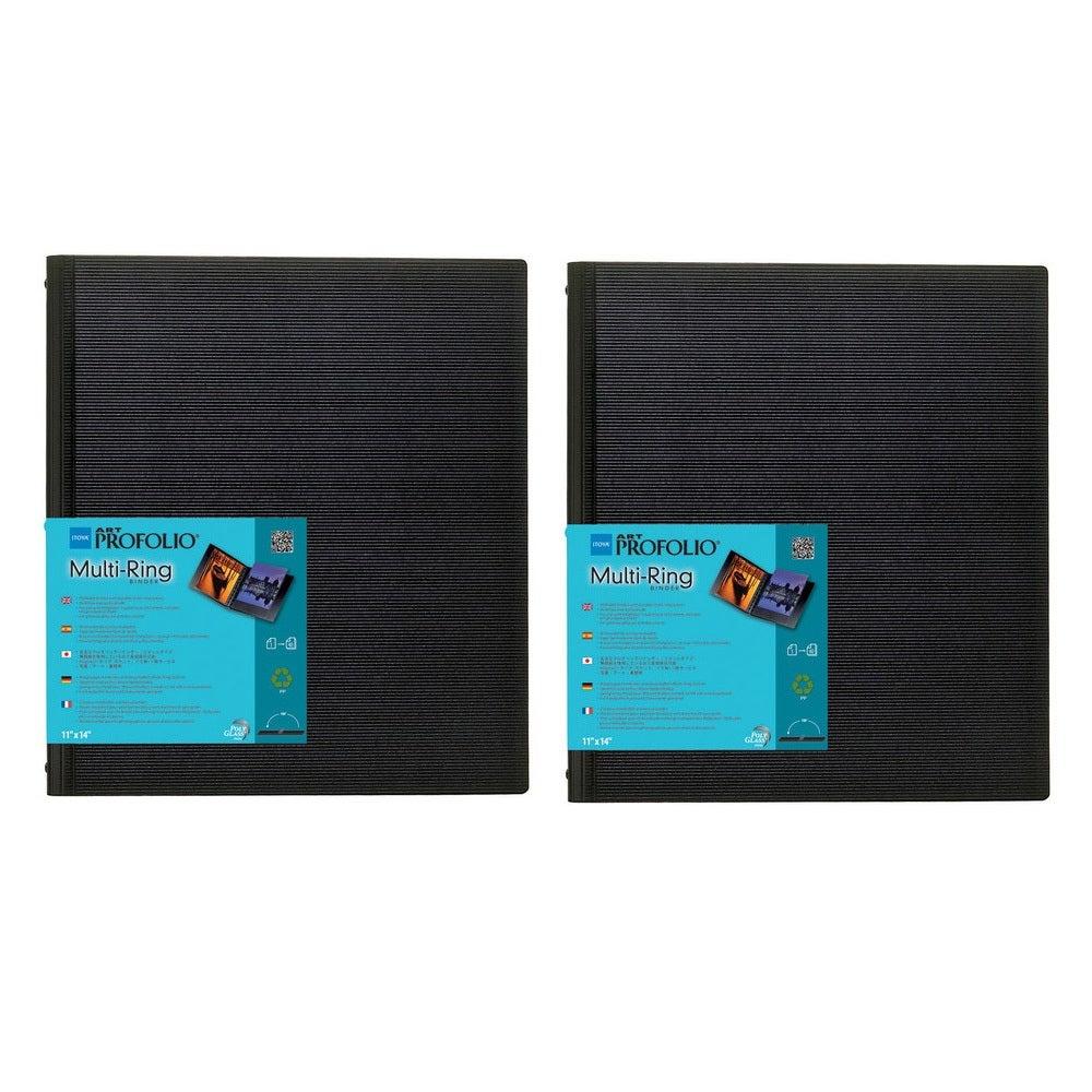 18 x 24, Black Itoya Art Profolio Multi Ring Refillable Binder