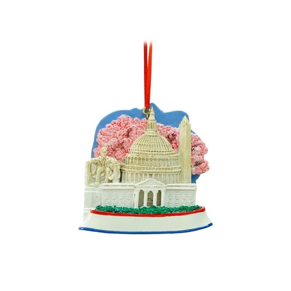 "3.25"" Decorative Washington DC Monumental Scene Christmas Ornament"