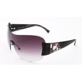 Judith Leiber Women's Mosaic Shield Sunglasses Onyx - Small