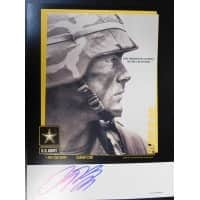 Signed Brown Antron 8 12x11 Army Promo Standup Display autographed