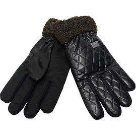 Men's Warm Winter Gloves Quilted Top Easy Grip Underside