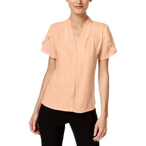 Calvin Klein Womens Casual Top Short Sleeves Lightweight