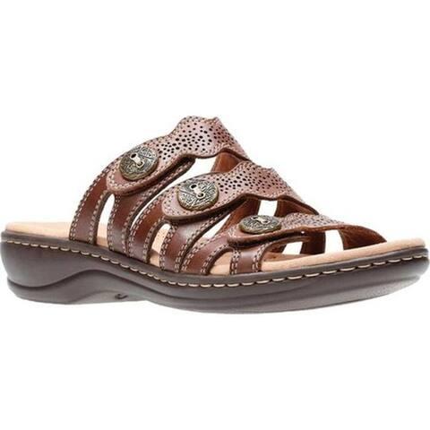 65f002649882 Clarks Women s Leisa Grace Strappy Slide Brown Multi Full Grain Leather.  Was.  67.95.  20.39 OFF. Sale  47.56