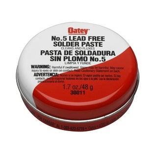 Oatey 30011 No. 5 Lead-Free Paste Flux, 1.7 Oz, Amber