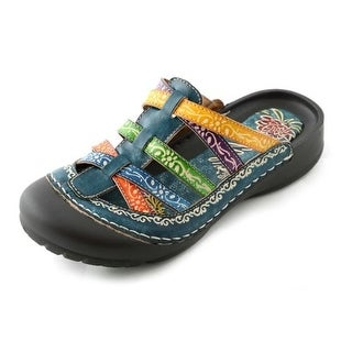 Corkys Womens Elite Rock Slip On Clogs Sandals - Blue Multi