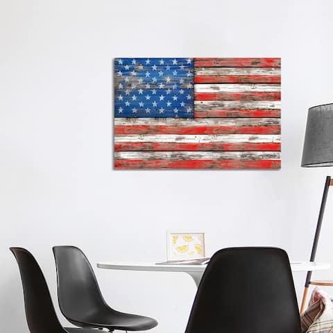 "iCanvas ""USA Vintage Wood"" by Diego Tirigall Canvas Print"