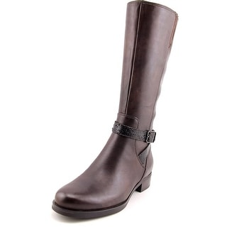 Ecco Adel Mid Women Round Toe Leather Knee High Boot