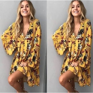 2018 summer floral lace stitching large size loose dress