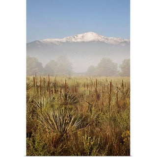 """Pikes Peak on a foggy morning"" Poster Print"