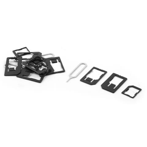 Cellphone Micro SIM Tray Card Slots Holder Adapter to Eject Needle 4 Sets