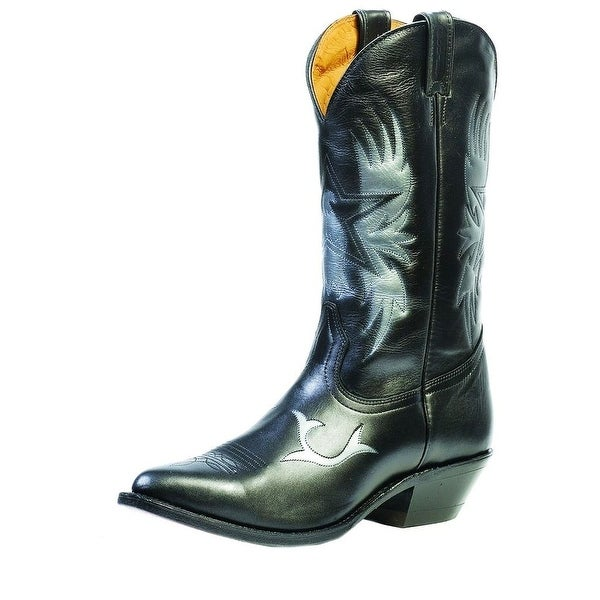 Boulet Western Boots Mens Cowboy Challenger Torino Black Calf