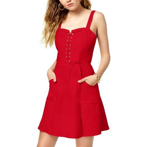 XOXO Womens Juniors Casual Dress Mini Lace-Up