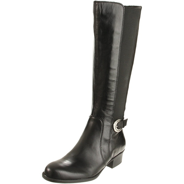 Naturalizer Womens Arness Leather Round Toe Knee High Fashion Boots