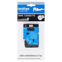 """Brother TC20Z1 Brother TC Laminated Tape Cartridge for P-touch Printer - 0.37"""" Width x 25"""" Length - Direct Thermal -"""