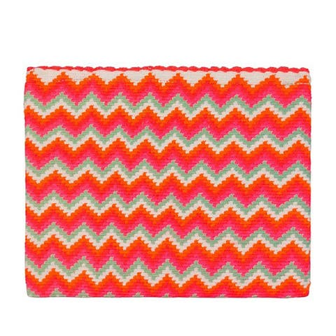 Sophie Anderson Lia Pink Chevron Striped Clutch