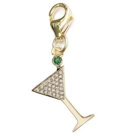 Julieta Jewelry Martini Glass Clip-On Charm