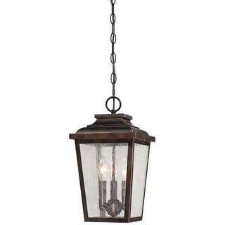 The Great Outdoors 72174-189 3 Light Lantern Pendant from the Irvington Manor Collection