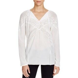 Bailey 44 Womens Dress Top Silk Pattern