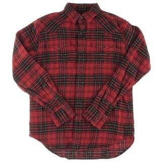 Polo Ralph Lauren Mens Button-Down Shirt Twill Plaid - S