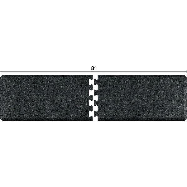 WellnessMats Granite Onyx Anti-Fatigue Puzzle Set Office & Kitchen Mat, 8 Feet by 2 Feet