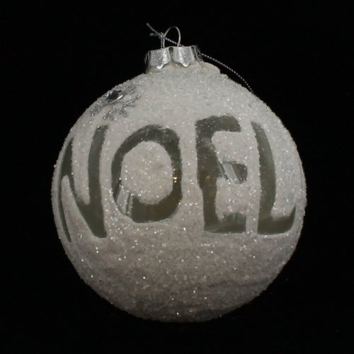 4 Inch Noel Snowball Ornament