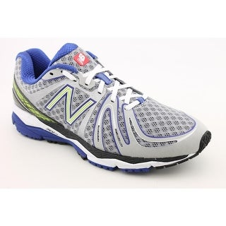 New Balance M890 Men B Round Toe Synthetic Silver Running Shoe