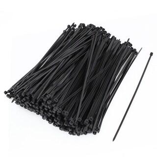 Unique Bargains 500 Pcs 20cm Length Black Nylon Self Locking Cable Organization Tie