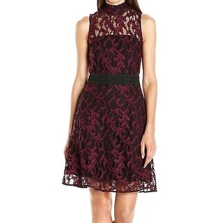 Rachel Roy NEW Purple Womens Size 0 Illusion Fit & Flare Dress Sheath