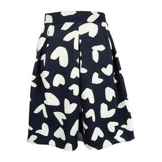 INC International Concepts Women's Heart Print Skirt