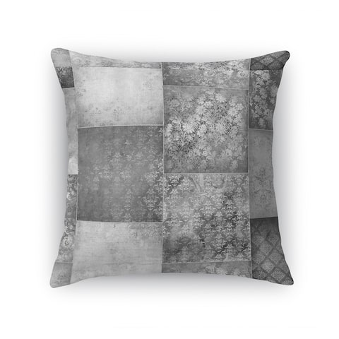ECLECTIC BOHEMIAN PATCHWORK LIGHT GREY Accent Pillow By Kavka Designs