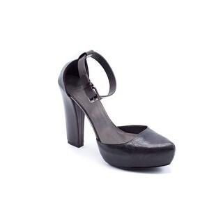 Brunello Cucinelli Womens Brown Leather Pumps Heels