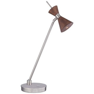 Kovacs P1822-651-L 1 Light LED Desk Accent Lamp with Distressed Koa Shade from the Conic Collection