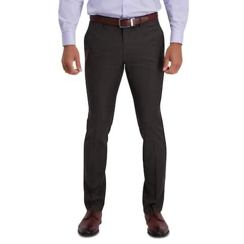 Kenneth Cole Reaction Mens Dress Pants Houndstooth Flex Waistbnd