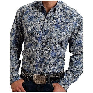 Stetson Western Shirt Mens Button Long Sleeve Blue 11-001-0526-0775 BU