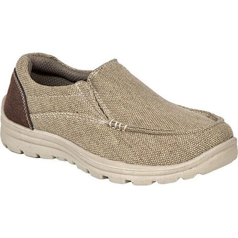 Deer Stags Boys' Alvin Moc Toe Slip On Khaki