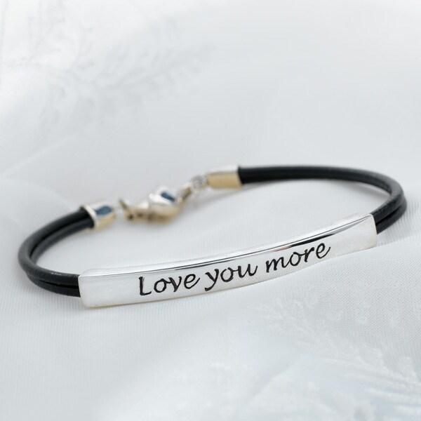 Women's Love You More Bracelet - Sterling Silver