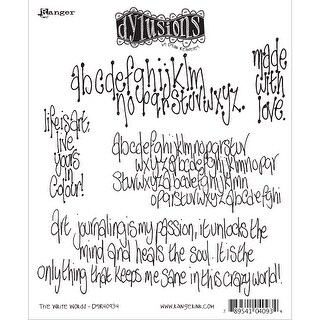"Dyan Reaveley's Dylusions Cling Stamp Collections 8.5""X7""-The Write Words"