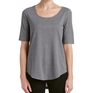 Catherine Malandrino NEW Gray Women's Size Large L Ribbed Hi-Low Blouse