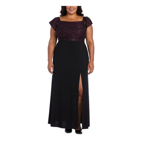 NIGHTWAY Purple Short Sleeve Maxi Dress 14W