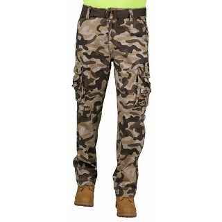 Most Official Seven Men's Belted Brown Camouflage Cargo Pant