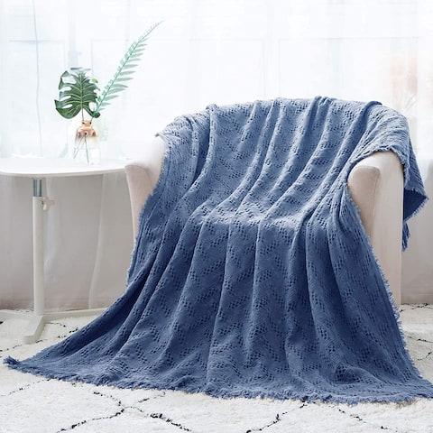 Kasentex Soft Cotton Throw Blanket