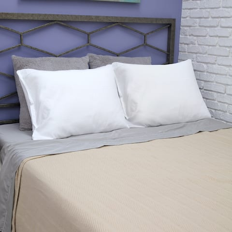 Fresh and Clean Bed Pillow Protector Pair with Antimicrobial Ultra-Fresh Treated Fabric from BioPEDIC