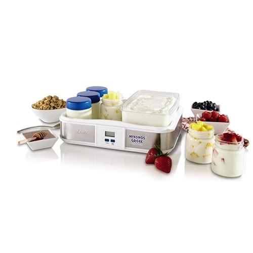 Oster CKSTYM1012 Mykonos Greek Digital Yogurt Maker 6 Jar 2-Quart - White