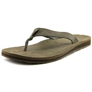 Teva Classic Flip Diamond Men Open Toe Leather Brown Thong Sandal